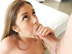 Petite Masturbating Babe Really Wants Big Cock Sex