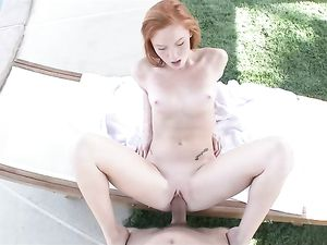 Big Cumshot On The Sexy Young Redheaded Slut