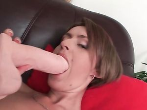 Pulsating Dongs Inside Her Ass And her Cunt At The Same Time