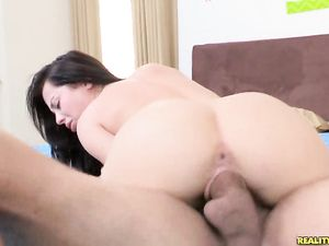 Young Shaved Pussy Pounded By His Big Dick