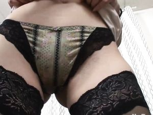Tight Booty Babe In Stockings Craves Anal Sex