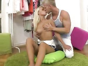 Sexy Tanned Blonde Fucked Hard In Her Shaved Cunt