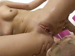 Soaked Teenage Pussy Fucked By His Long Thrusts