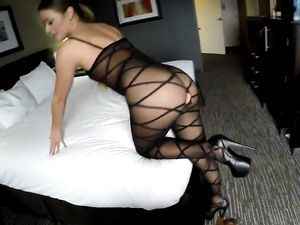 Angel Talked Into Pussy Pounding In The Hotel Room