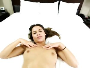 Warm Cum For Brunette Cutie After Fucking
