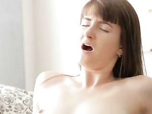 Brunette Cutie Giving Head Before Pounding Anally