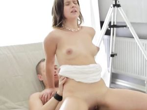 Sensual Dick Riding Babe Makes Him Cum In Her Mouth