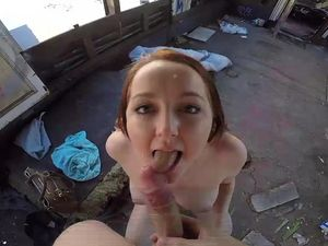 Redhead Teen Fucks For Cash In An Abandoned House