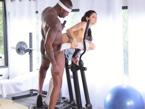 Tattooed Black Dude Fucks A Tight Pussy In The Gym