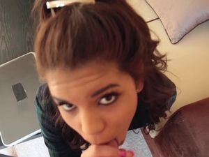 Latina Teen Cocksucker Strips And Gets Fucked