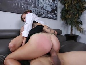 Horny Secretary Is Happy To Suck And Ride Her Boss