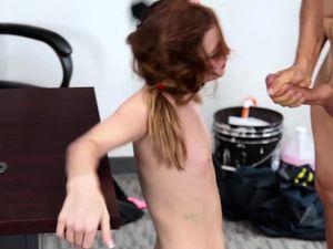 Pigtailed Schoolgirl Likes Having Sex In School