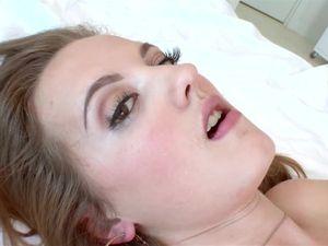 Huge Cumshot For A Beautiful Brown Eyed Teen Gal