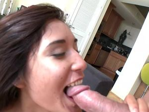 Brunette Girl Loves To Ride His Pulsating Cock