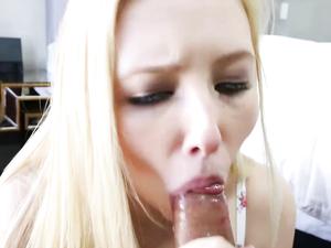 Sweet Samantha Rone Sucks Dick In Close Up