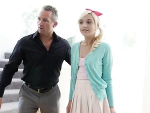 Cardigan Cutie Seduced By An Older Man For Hot Sex