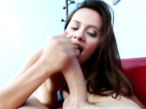 Selma Sins Has To Open Wide To Suck His Big Dick