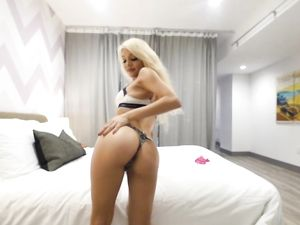 Skinny Blonde Sexpot Wants Your Dick Inside Her