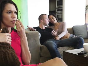 Fucking His Latina Stepsister With Her Mom Nearby
