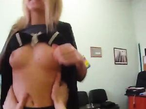 Office Blowjob And Cock Riding With Blonde In POV