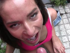 Brunette Teen With Small Tits Gets Fucked In Misisonary